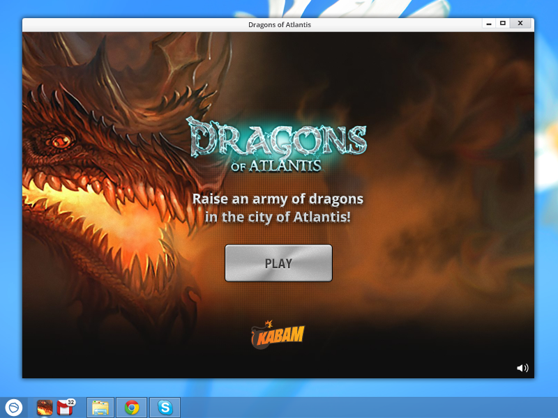 Dragons of Atlantis is a free strategy game