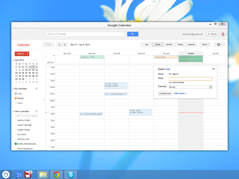 Google Calendar for Pokki
