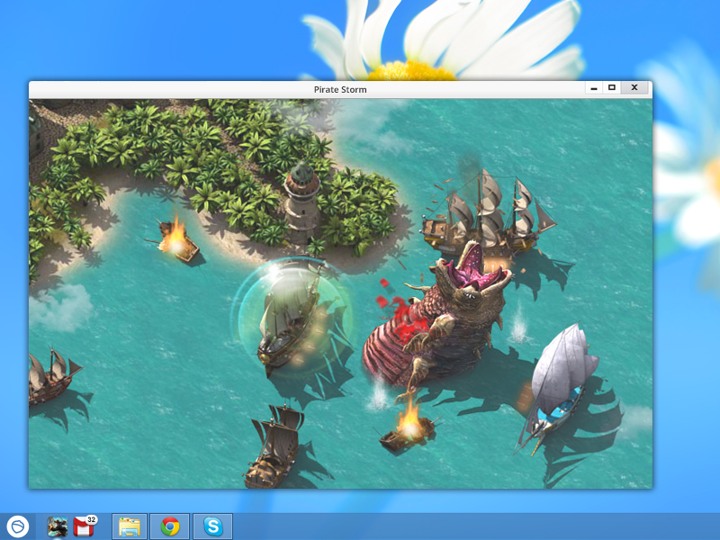 Pirate Storm is a free MMO desktop game.