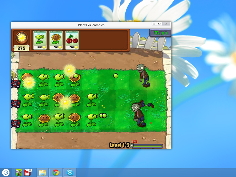 Click to view Plants vs Zombies for Pokki screenshots