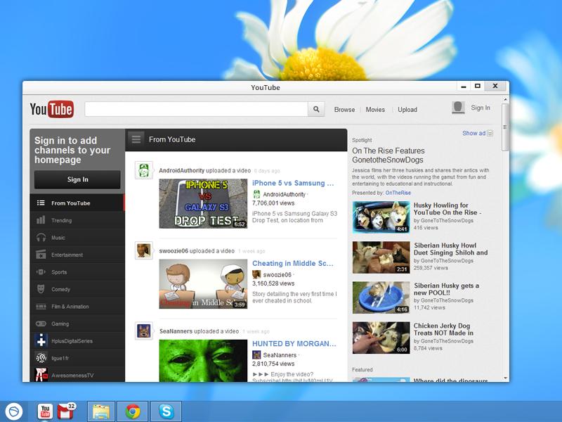 Youtube App for Pokki